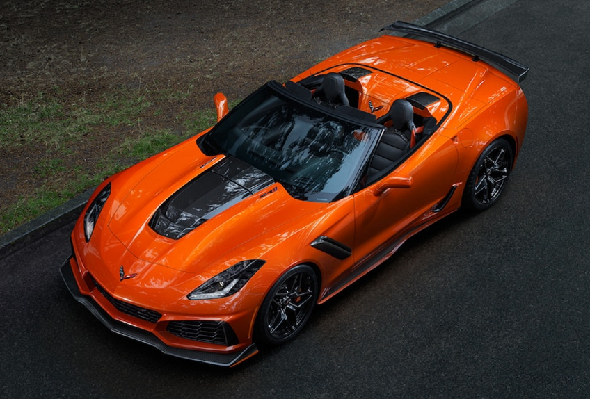 2019 Corvette ZR1 top shot