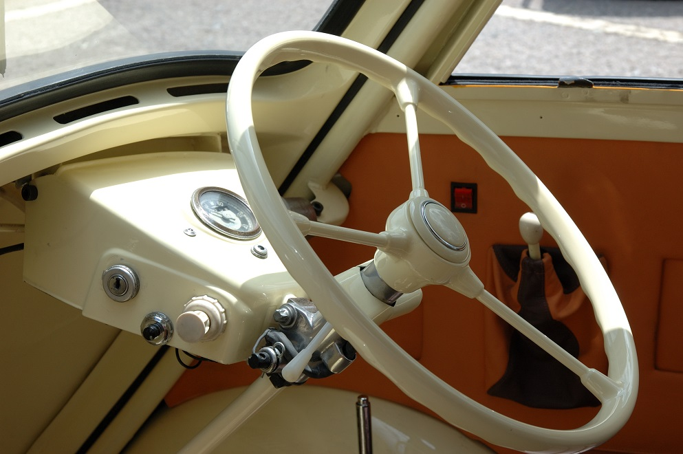 Isetta Steering Wheel with Door Closed